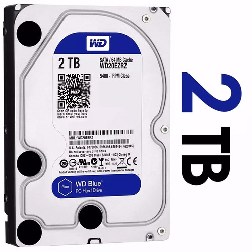 Disco Rigido 2tb Blue Western Digital Caviar Wd Sata 3 64 Mb