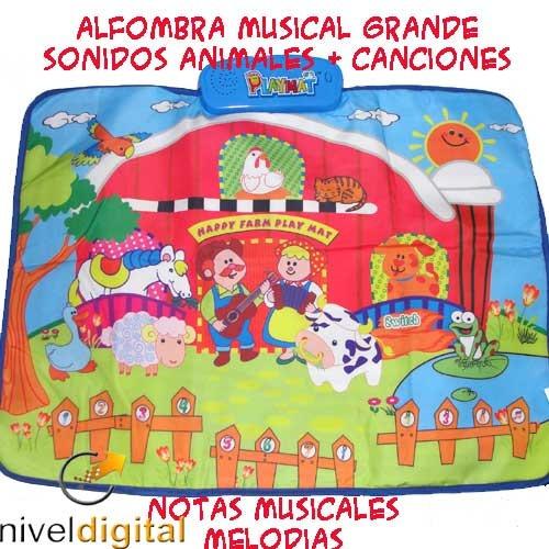 Alfombra Musical Didactica Grande Sonido Animales Melodias