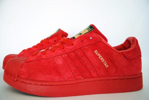 c5e11a05b Zapatillas Superstar Rojas Gamuzadas Limitedition en venta en ...