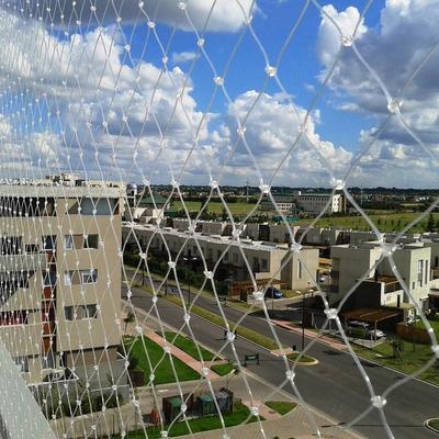 Red malla de tanza transparente seguridad proteccion - Proteccion para terrazas ...