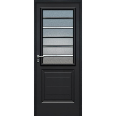 Puerta pavir florencia negra vidrio horizontal premium 80 cm 8200 0 tecnooeste aberturas - Picaporte puerta aluminio ...