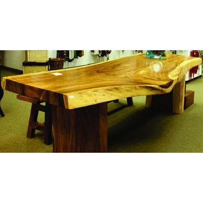 Mesa rustica de jardin troncos macizas madera entera for Mesas de troncos de madera