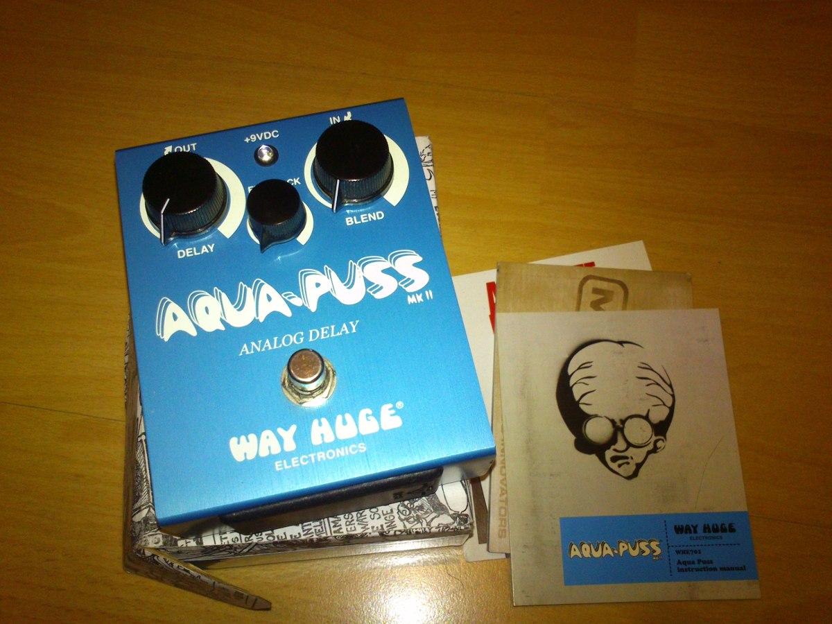 Pedal De Efectos Way Huge Whe701 Aqua Puss Delay -grey Music