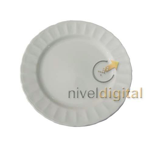 Set De 6 Platos Playos Porcelana Corona Caribe Fino Diseño