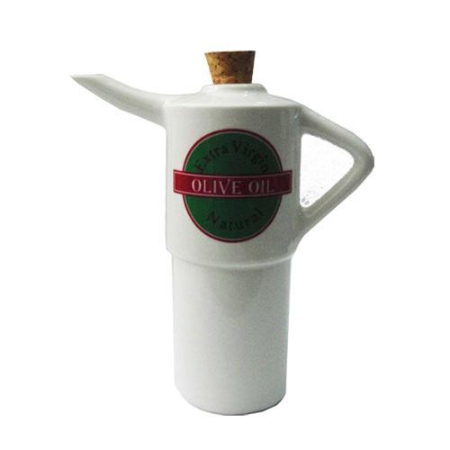 Aceitera Con Manija Porcelana Tapon Corcho 180 Cc Bar Resto
