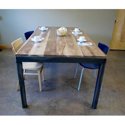 Mesas comedor de hierro y madera deco muebles rusticos - Mesas madera y hierro ...