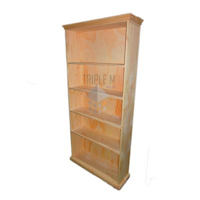 Biblioteca recta 0 80cm pino macizo primera calidad for Muebles calidad