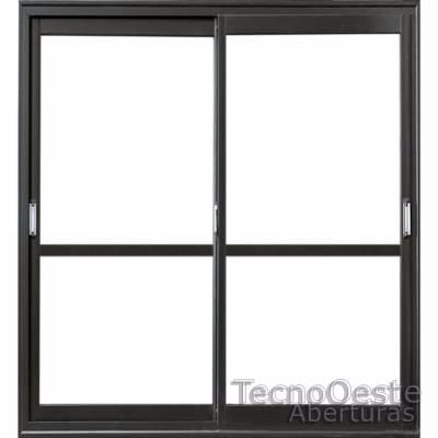 Ventana balc n oblak varesenova 200x200 cm aluminio negro for Ventana balcon medidas