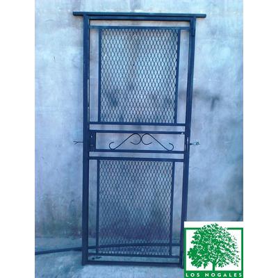 Puerta reja con malla 80x200 con marco y cerradura - Mallas de hierro ...