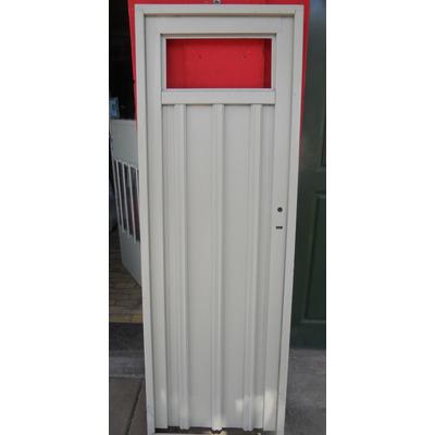 Puerta de chapa con reja lateral 80x200 oferta aberturas for Cuanto sale una puerta