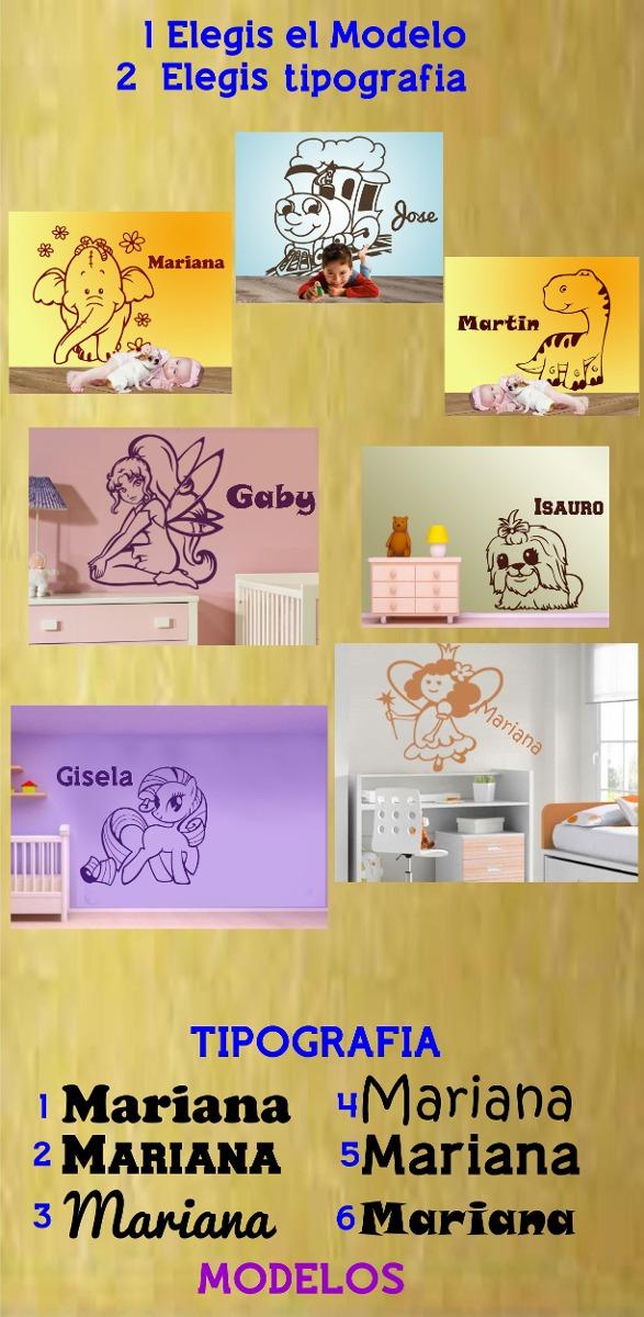 Vinilos Decorativos Infantiles Con Nombre 50 Cm Modelos Orig