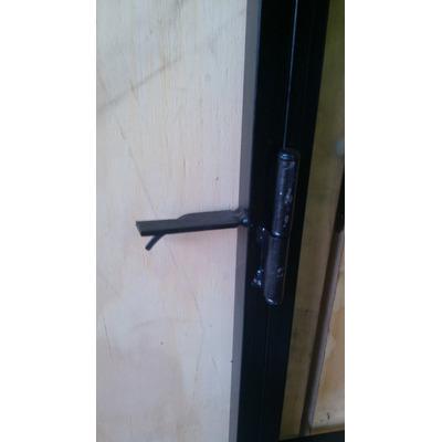 Puerta Reja 80x200 Con Marco Y Cerradura De Seguridad