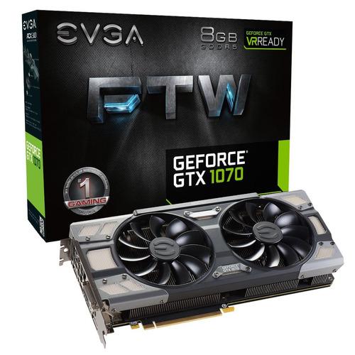 Placa Video Gtx 1070 Ftw Gaming Acx 3.0 8gb Evga Giga Msi