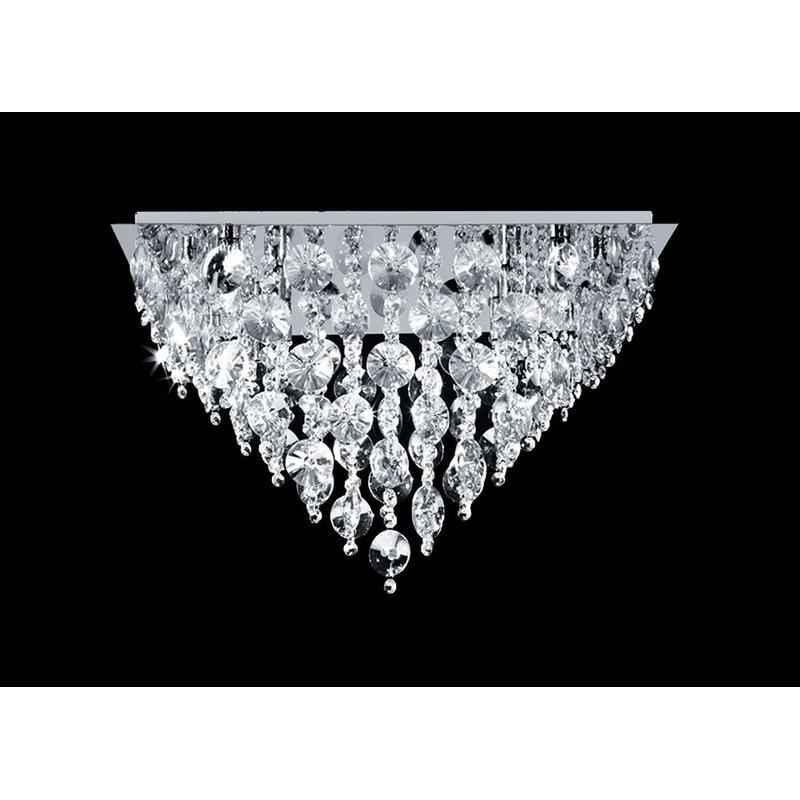 Plafon Morena Cairel + 6 Luces G9 De Regalo Cristal Acero Mg