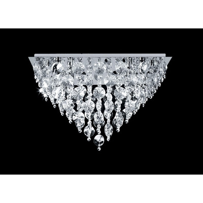 Plafon Morena Cairel Con 6 Luces Led De Regalo Cristal Acero