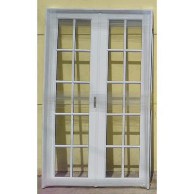 Puerta balcon abrir aluminio reforzado v repartido 150x200 for Puerta balcon aluminio