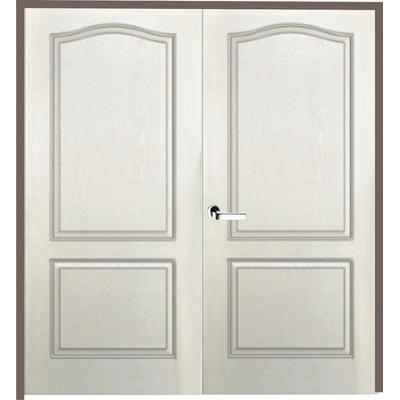 Puerta doble hoja craftmaster blanca marco madera 120x200 for Puerta doble hoja exterior