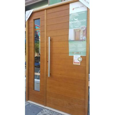 Puerta y media madera oblak 2331 puerta lateral de abrir for Puerta exterior 120 cm