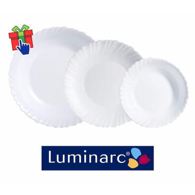 Juego platos luminarc feston x18 piezas playo hondo y - Platos luminarc precios ...