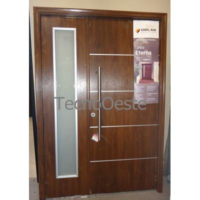 Puerta y media residencial lateral oblak eterna 1183 for Puerta y media de aluminio