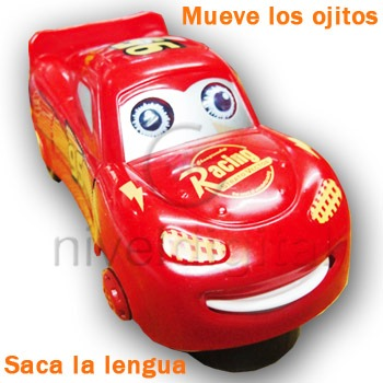 Autito 11 Cm Rayo Cars Movimiento Ojos Lengua Sonido Bocina
