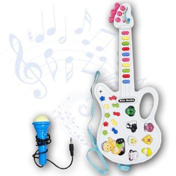 Guitarra Musical Electrica Teclas Notas Musicales Microfono