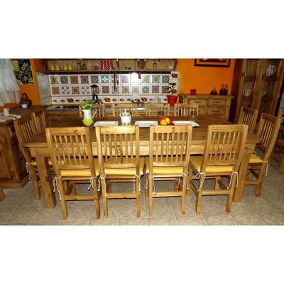 Mesa quincho 3.00 m, maciza estilo campo    3.600,00 en mercado libre