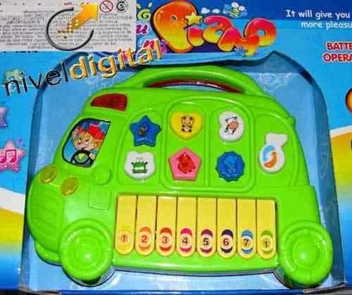 Juego Piano Didactico Luz Melodias Sonidos Animales Teclas