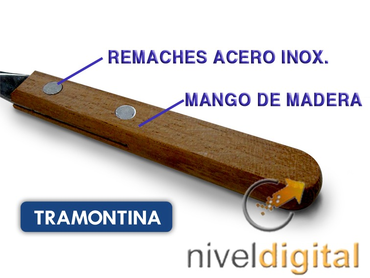 18 Cubiertos Cucharita Tramontina Acero Inox Dynamic Madera
