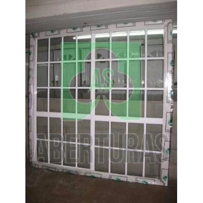 Aberturas ventana balcon alum blan rep 240x200 c vid 4mm for Ventana balcon medidas