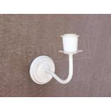 Aplique Pared Simple 1 luz - Hierro Blanco