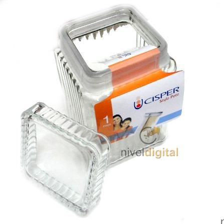 Frasco Pote Multiuso Vidrio Cisper 1 6 Litros Tapa Hermetica