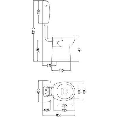 Inodoro alto y mochila discapacitados linea espacio ferrum for Inodoro discapacitados
