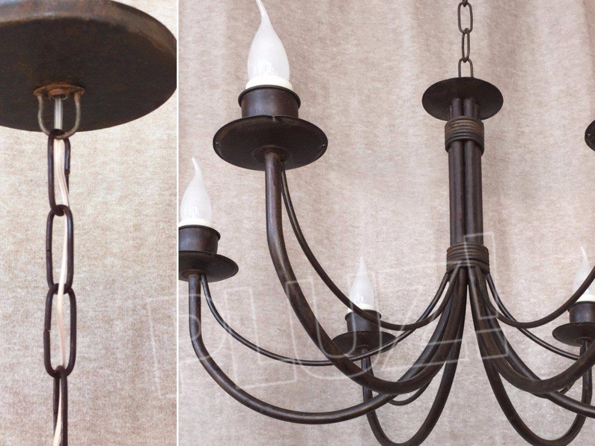 Lámpara Colgante Araña 6 luces Hierro &Oacu...
