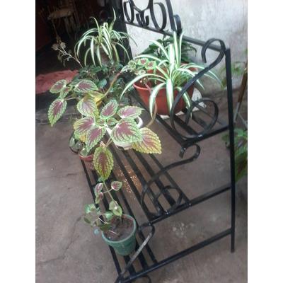 Porta macetas artesanal de hierro para decorar en venta en for Plantas jardin baratas