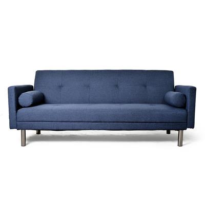 Futon divan sillon cama con apoya brazos patas cromadas for Sillon futon cama