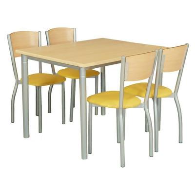 Excelente silla ca o reforzado con respaldo bajo de madera for Sillas comedor respaldo bajo