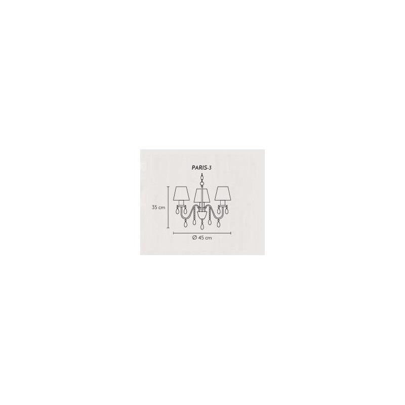 Araña Colgante Paris 3 Luces Apto Led Moderno Cromo Cairel