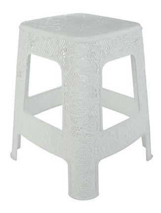 Banquito Banqueta Silla Apilable Plastica Diseño Baño Hogar