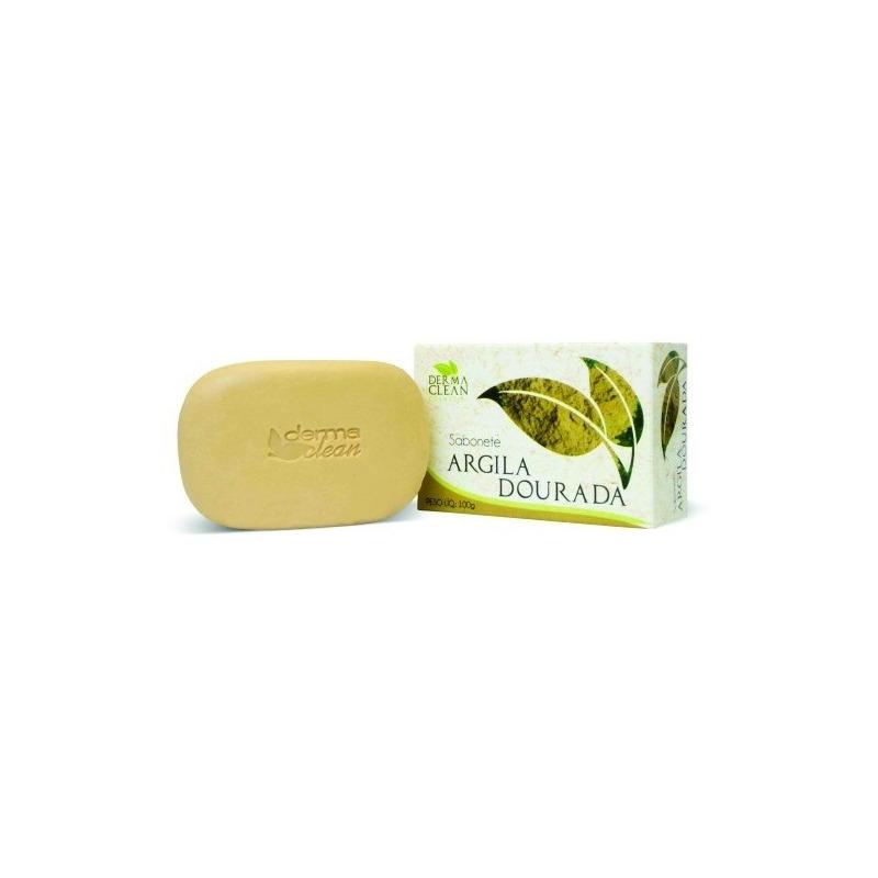 Sabonete de Argila Dourada - 100g - Dermaclean