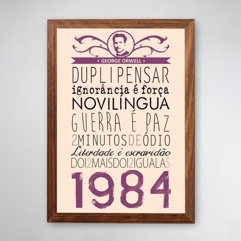 PÔSTER COM MOLDURA - 1984