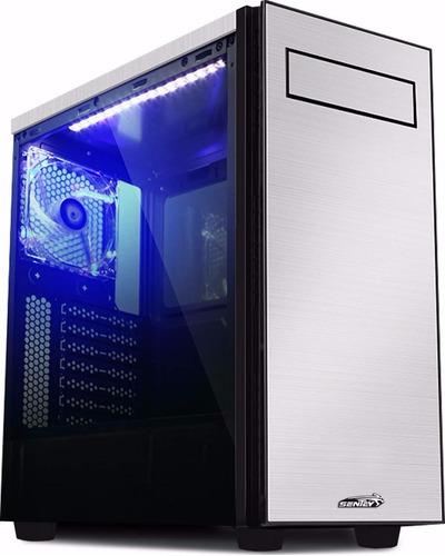 Gabinete Sentey Shuko Gs-6200 Acrilico Aluminio Usb 3.0