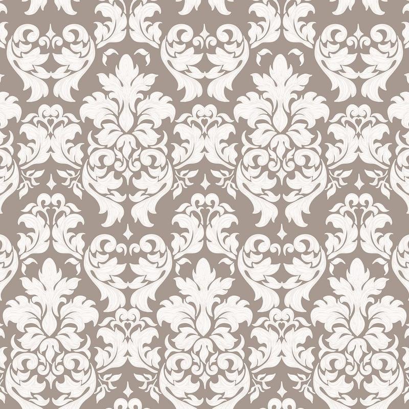 Tecido para parede medalhão cinza- impermeabilizado - Coleção Mônaco