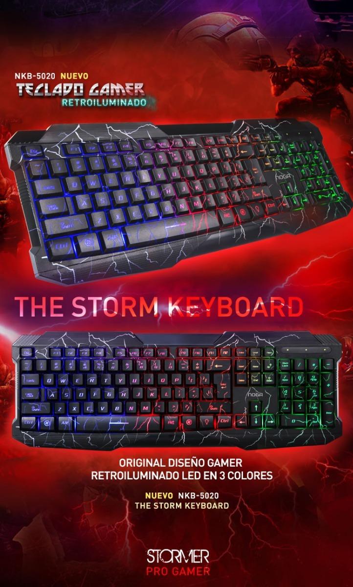 Teclado Gamer Usb Retroiluminado Stormer Series Nkb-5020