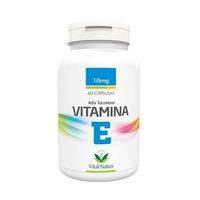 Vitamina E - Alfa Tocoferol 60 capsulas 10mg - Vital Natus