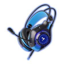 Auricular Gamer 7.1 Con Microfono Led Azul Conexion Usb Ps4 Rescuer Kga-265 Kolke