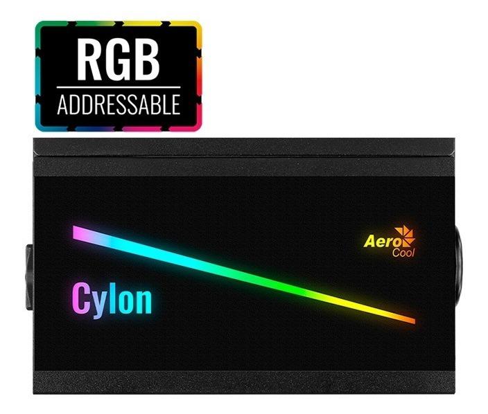 Fuente Aerocool Cylon Argb 600w 80+ Bronce Gamer Pc Psu