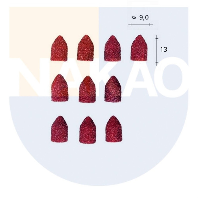 Conjunto 10 Lixas Cônicas 13 x 9 mm 80GR e 150GR - 28989 - Proxxon