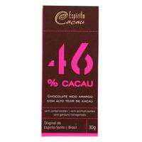 Chocolate Meio Amargo com 46% Cacau - 30g - Espirito Cacau