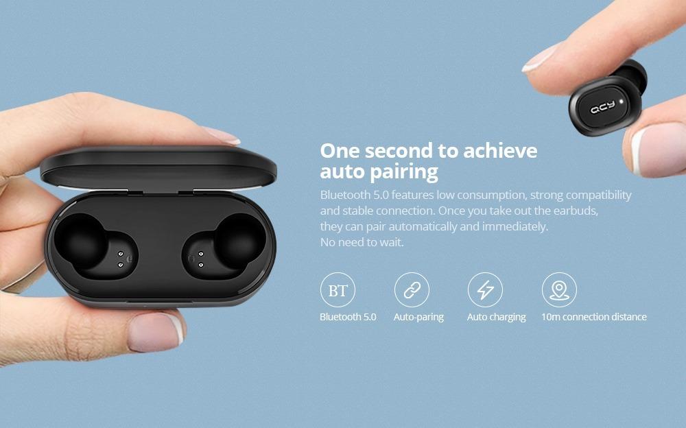 Auriculares Tws Qcy T2c Original 2019 Sport Bluetooth V5.0